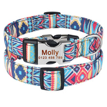 Load image into Gallery viewer, 92 AiruiDog Adjustable Personalised Dog Collar Pet Custom Engraved NameTag ID Collars S M L