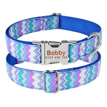 将图片加载到图库查看器,98 Personalized Dog Collar Fabric ID Name Tag Buckle Customized Free Engraved Puppy S M L Dog Pet Name Puppy Information