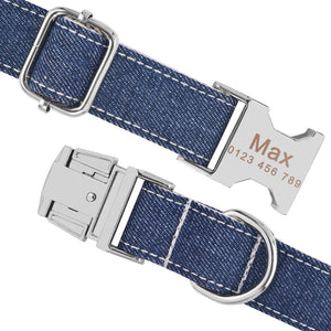 91 Personalized Dog Collar Nylon Small Large Custom Engraved Buckle Name Puppy XS-L
