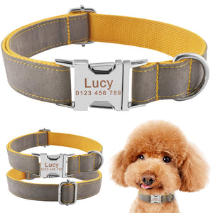 91 Durable Personalized Dog Collar Lint ID Name Tags Dogs Free Engraved XS S M L