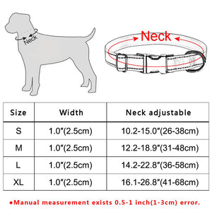 91 Small Medium Large Dog Christmas Dog Collar Pet Puppy Adjustable Nylon Red S-XL