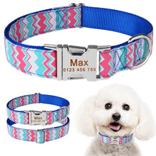 将图片加载到图库查看器,92 Personalized Dog Collar Fabric ID Name Tag Buckle Custom Engraved Puppy S M L