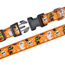 将图片加载到图库查看器,91 Halloween Ghost Supplies Dog Collar Nylon Trick or Treat Large Dogs Bat Pumpkin