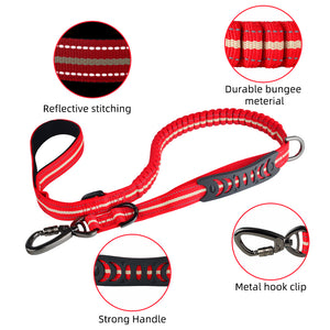 93  Extendable Nylon Long Dog Lead Leash Strong Heavy Duty Training Dual Handle Strong Dog Lead