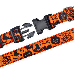 91 Halloween Dog Collar Soft Nylon Large Dogs Ghost Pumpkin Spider Collection S-XL