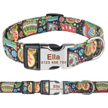 将图片加载到图库查看器,92 Adjustable Personalised Dog Collar Pet Custom Engraved NameTag ID Collars S M L