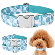 将图片加载到图库查看器,91 Nylon Dog Collar Personalised Puppy Pet Engraved ID Tag Name Plate Adjustable