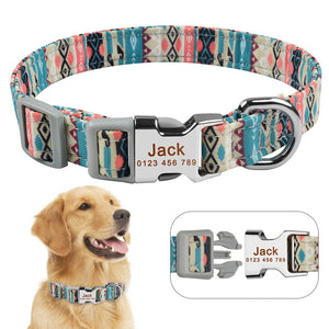92 Male Female Dog Collar Personalised Custom Engraved Pet ID Tag Nameplate S M L