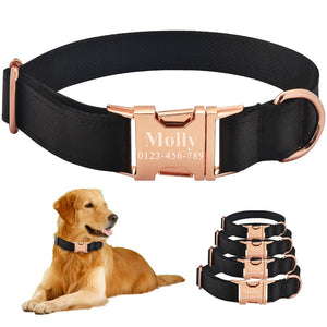 91 Free Engraving Dog Collar Personalized Adjustable Durable Nylon Dogs ID Name XS-L