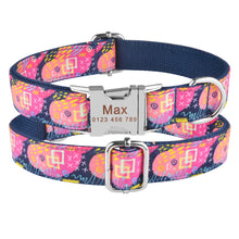 将图片加载到图库查看器,91 High Quality ID Name Personalized Dog Collar Adjustable Nylon Metal Buckle XS-L