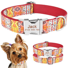 Load image into Gallery viewer, 91 Personalized Dog Collar Free Engraved Pet Dogs Puppy ID Name Durable Nylon XS-L