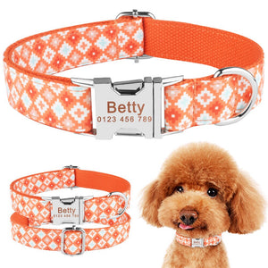 91 Free Engraved ID Name Personalized Dog Collar Small Medium Large Pet Nylon XS-L