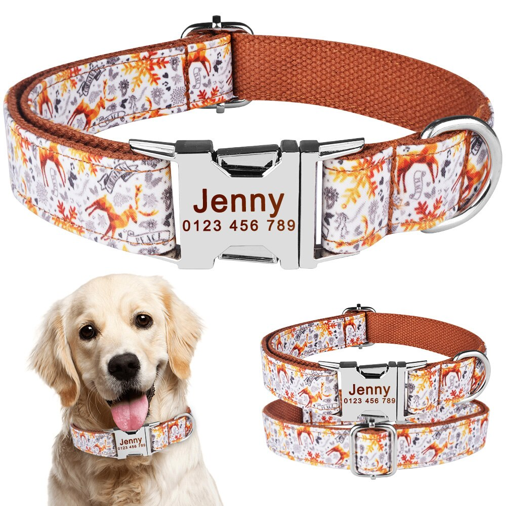 91 Free Engraved Name Personalized Dog Collar Nylon Small Medium Large Dogs Puppy