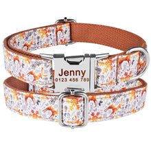 Load image into Gallery viewer, 91 Free Engraved Name Personalized Dog Collar Nylon Small Medium Large Dogs Puppy