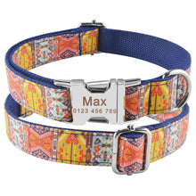 将图片加载到图库查看器,91 Personalized Dog Collar Green Nylon Small Medium Dogs Free Engraved Pet ID Name