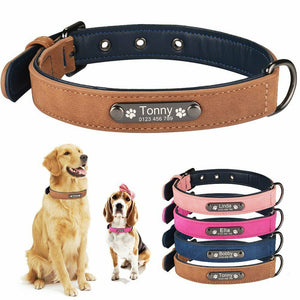 96 Personalized Dog Collars Customized puppy Collars with Id Tags Eco-friendly Microfiber Adjustable Size for Large and Small Dog