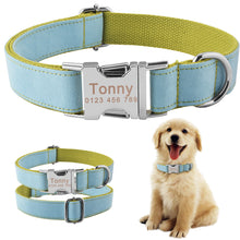 Load image into Gallery viewer, 91 Durable Nylon Personalized Dog Collar Free Engraved Dogs Pet ID Name Tag XS-L