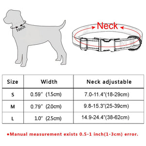 95 Free Engraving Dog Collar Personalized Adjustable Durable Nylon Dogs ID Name XS-L