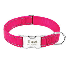 Load image into Gallery viewer, 95 Free Engraving Dog Collar Personalized Adjustable Durable Nylon Dogs ID Name XS-L