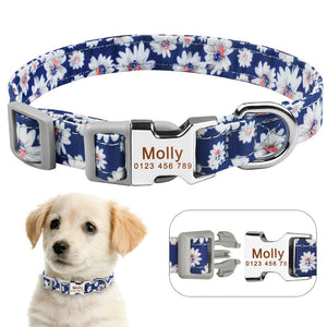 92  Personalized Dog Collar Polyester Custom Engraved ID Dogs Name Adjustable S M L