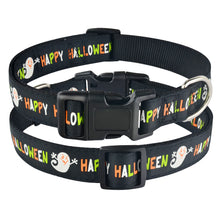 将图片加载到图库查看器,91 Orange Nylon Halloween Dog Collar Small Medium Large Pet Puppy Collar Adjustable