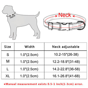 91 Small Medium Large Dog Collar Halloween Adjustable Male Female Puppy Collar S-XL