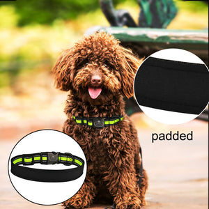 95 Durable Dog Collar Free Engraving Personalized Adjustable Nylon Dogs ID Name XS-L Reflective Material