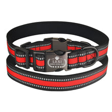 将图片加载到图库查看器,95 Durable Dog Collar Free Engraving Personalized Adjustable Nylon Dogs ID Name XS-L Reflective Material