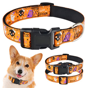 91 Adjustable Halloween Dog Collar Male Female Pet Puppy Collar Small Medium Large
