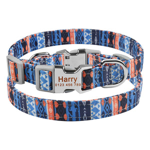 92 Personalized Dog Collar Durable Nylon Puppy Dogs Pet Name Free Engraved Collars
