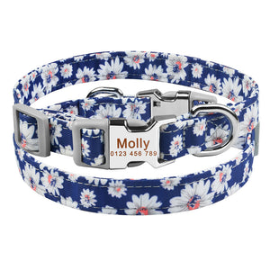 92  Personalized Dog Collar Nylon Small Medium Large Puppy Pet Engraved Name Collars