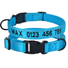 Load image into Gallery viewer, 98 Adjustable Nylon Dog Collar Personalized Embroidered Padded Dog Collar Puppy ID Collars Reflective