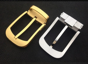 Meetee 1pc ID35mm High-grade Pure Copper Belt Buckles Solid Brass Pin Buckle Belts Head DIY Leathercrafts Hardware Parts YK068