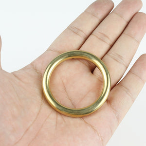 Solid Brass Cast O-Ring Seamless Round Buckle For Webbing Leather Craft bag strap belt pet collar High Quality