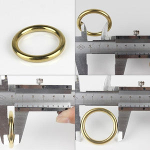 MM8 Solid Brass Cast O-Ring Seamless Round Buckle For Webbing Leather Craft bag strap belt pet collar High Quality