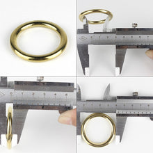 将图片加载到图库查看器,Solid Brass Cast O-Ring Seamless Round Buckle For Webbing Leather Craft bag strap belt pet collar High Quality
