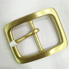 Load image into Gallery viewer, DIY leather craft solid brass material 40mm inner width men tri glide pin belt buckle 4pcs/lot