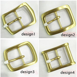 DIY leather craft solid brass material 40mm inner width men tri glide pin belt buckle 4pcs/lot