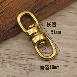 DIY solid brass material rotate belt buckle bag luxury hardware