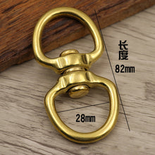 将图片加载到图库查看器,DIY solid brass material rotate belt buckle bag luxury hardware