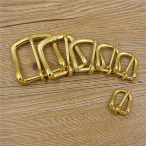 DIY leather bag belt pin buckle solid brass material 23mm 25mm 32mm 38mm inner width 5pcs/lot
