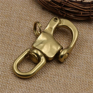 DIY navy style leather craft solid brass bag belt 1pc/lot