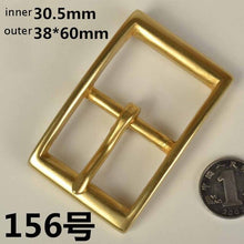 将图片加载到图库查看器,DIY leather craft women men solid brass belt pin buckle 5pcs/lot