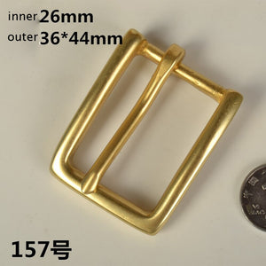 DIY leather craft women men solid brass belt pin buckle 5pcs/lot