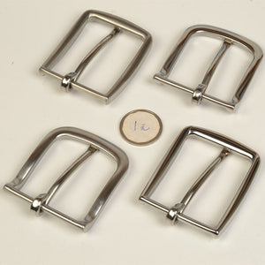 high quality solid stainless steel men DIY belt pin buckle 2pcs/lot slim edge