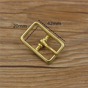 solid brass DIY leather craft bag belt buckle double tri glide pin 5pcs/lot