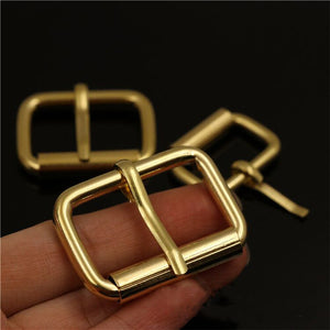 solid brass material leather craft bag backpack belt pin buckle 10pcs/lot wholesale
