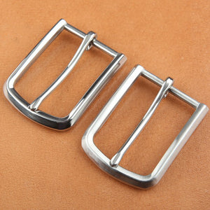 DIY leather craft solid stainless steel men elegant pin buckle mirror and matt brushed finished hardware 3pcs/lot