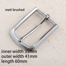 Load image into Gallery viewer, DIY leather craft solid stainless steel men elegant pin buckle mirror and matt brushed finished hardware 3pcs/lot