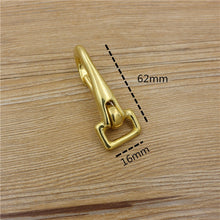 将图片加载到图库查看器,4size solid brass material leather belt hook buckle flat ring DIY bag wallet backpack suicase metal hardware 3pcs/lot